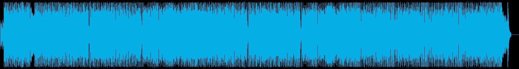 単純なリズムのエネルギッシュなロックの再生済みの波形