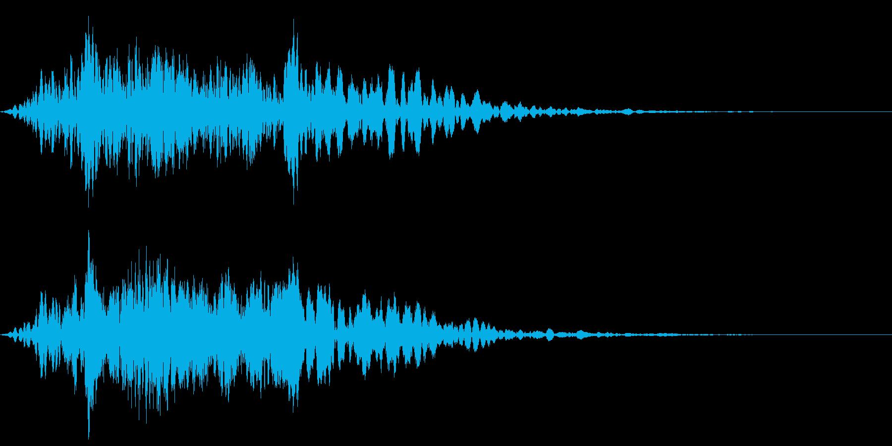 ハシブトガラスの鳴き声の再生済みの波形