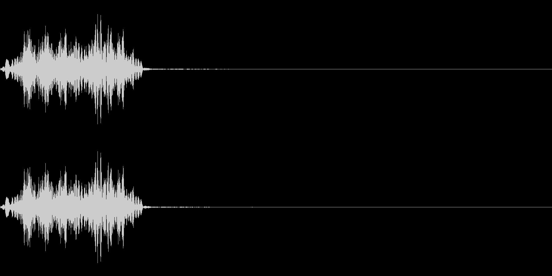 ブシュッ!(剣、槍での攻撃エフェクト)の未再生の波形