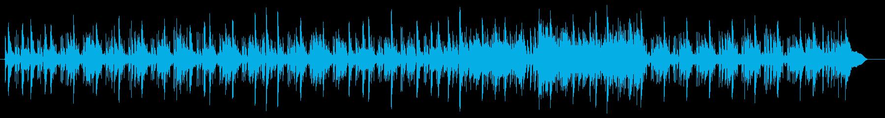 お洒落なR&BサウンドBGMの再生済みの波形