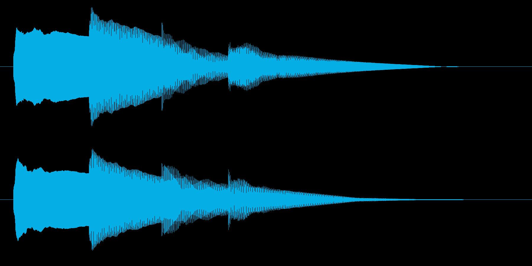 チャイム アナウンス06-4の再生済みの波形