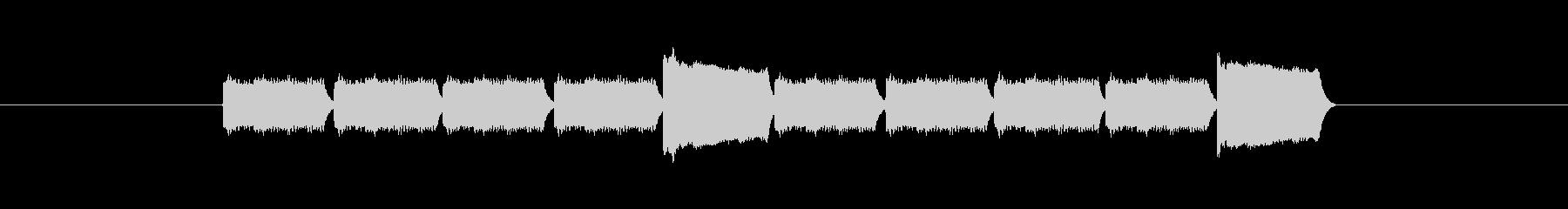 「10」を表す音のカウンターですの未再生の波形