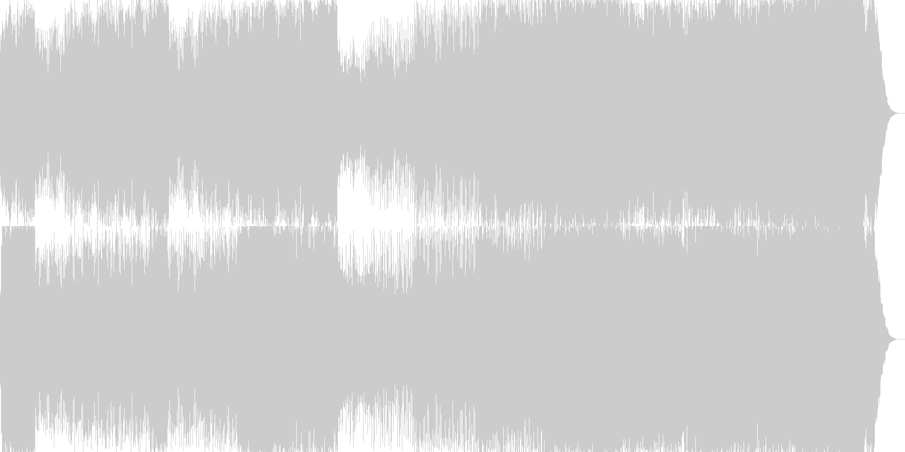 マジックショーのBGM。アラビアン系の未再生の波形