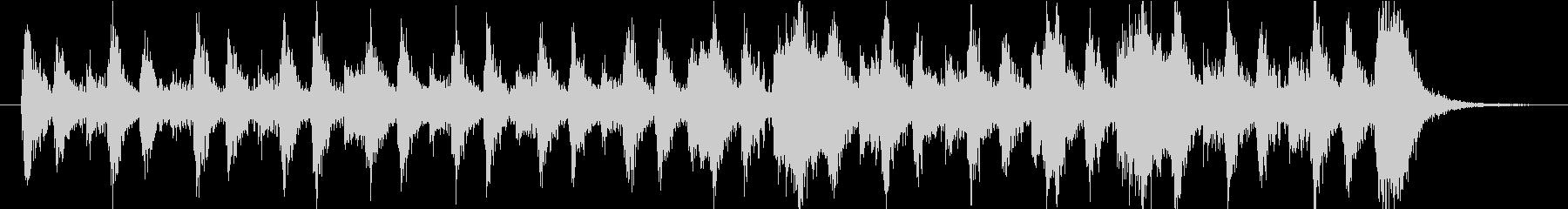 軽快で力強いオーケストラの未再生の波形
