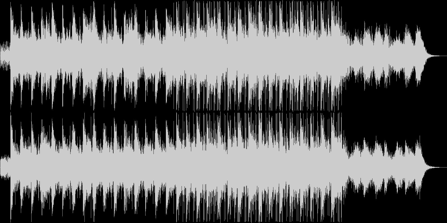 ニュースなどに最適なアンビエントBGMの未再生の波形