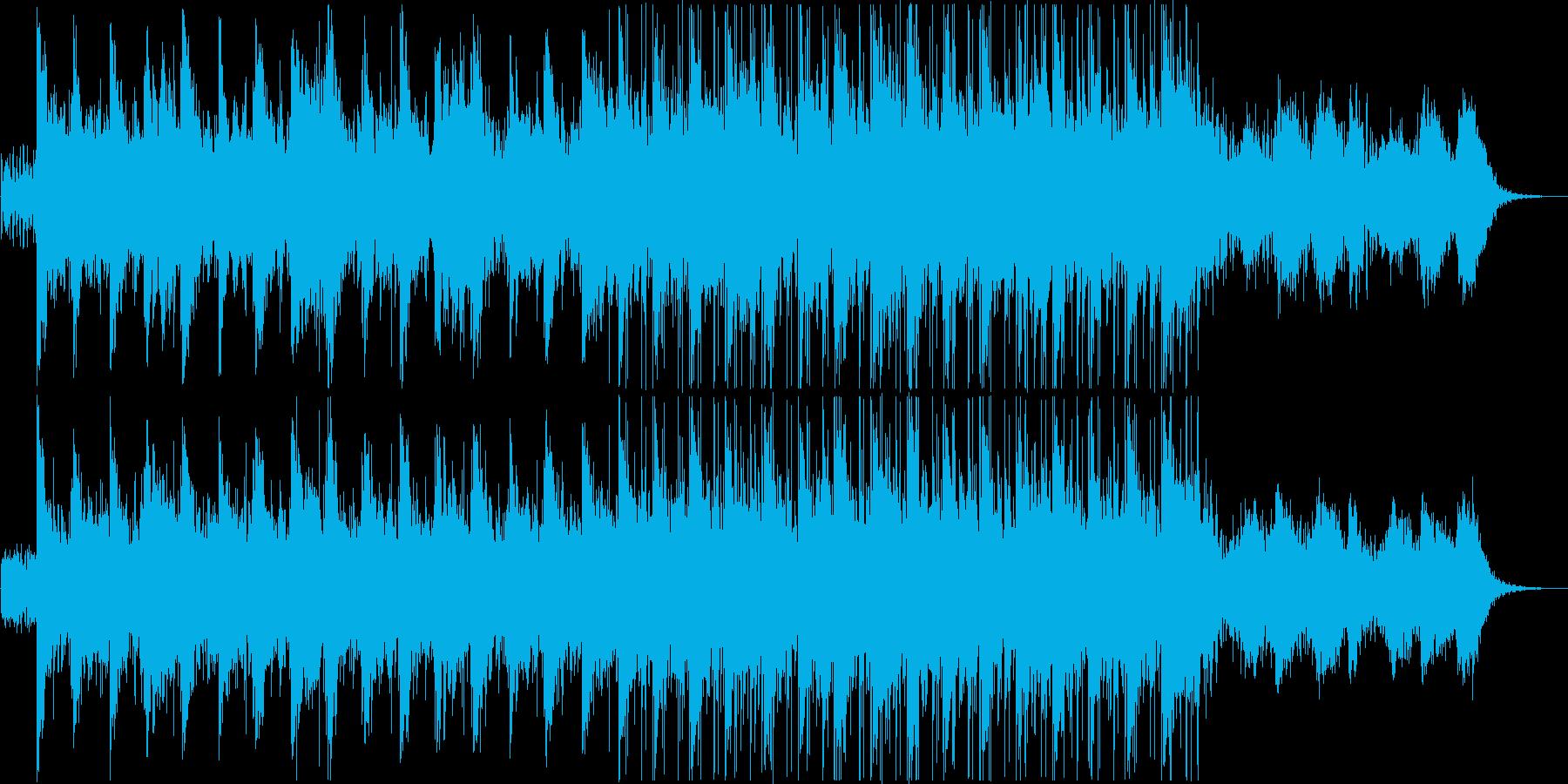 ニュースなどに最適なアンビエントBGMの再生済みの波形