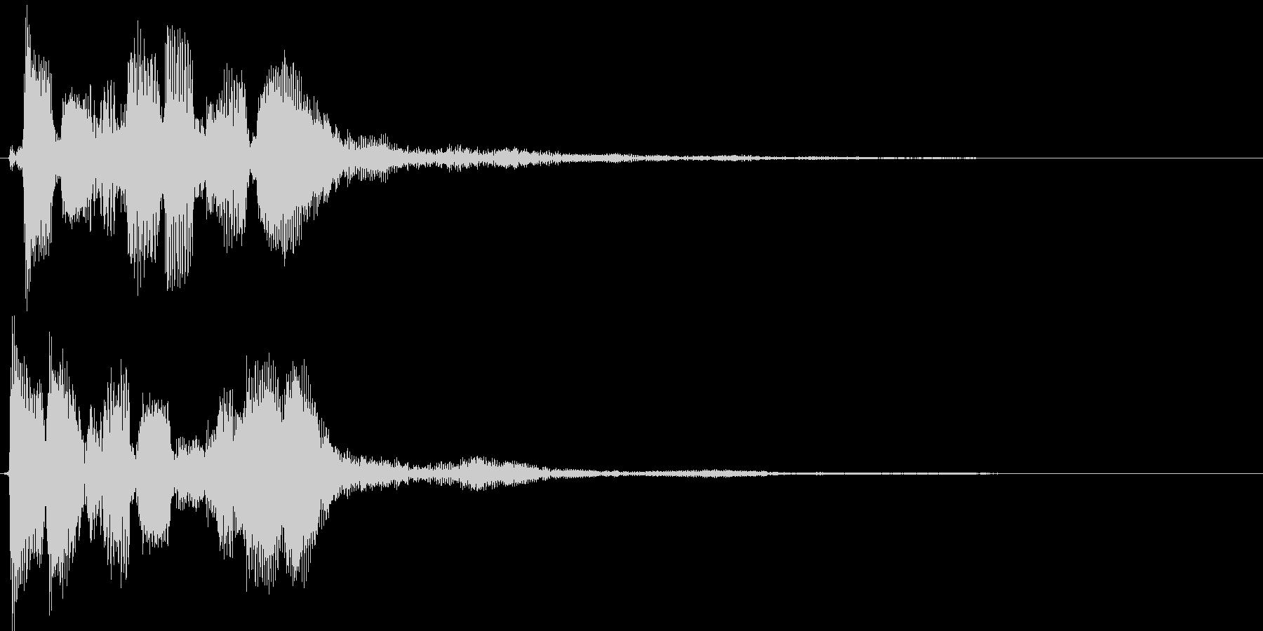 決定音 移動音の未再生の波形