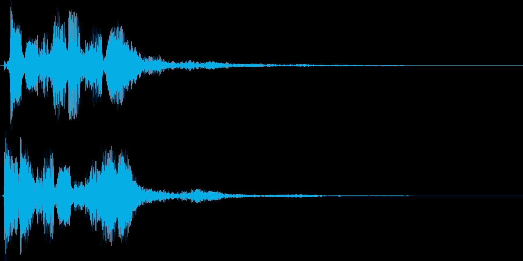決定音 移動音の再生済みの波形