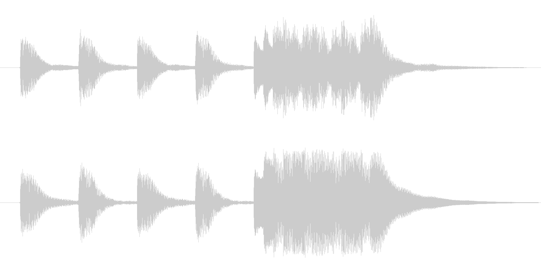 ホールトーンジングルの未再生の波形
