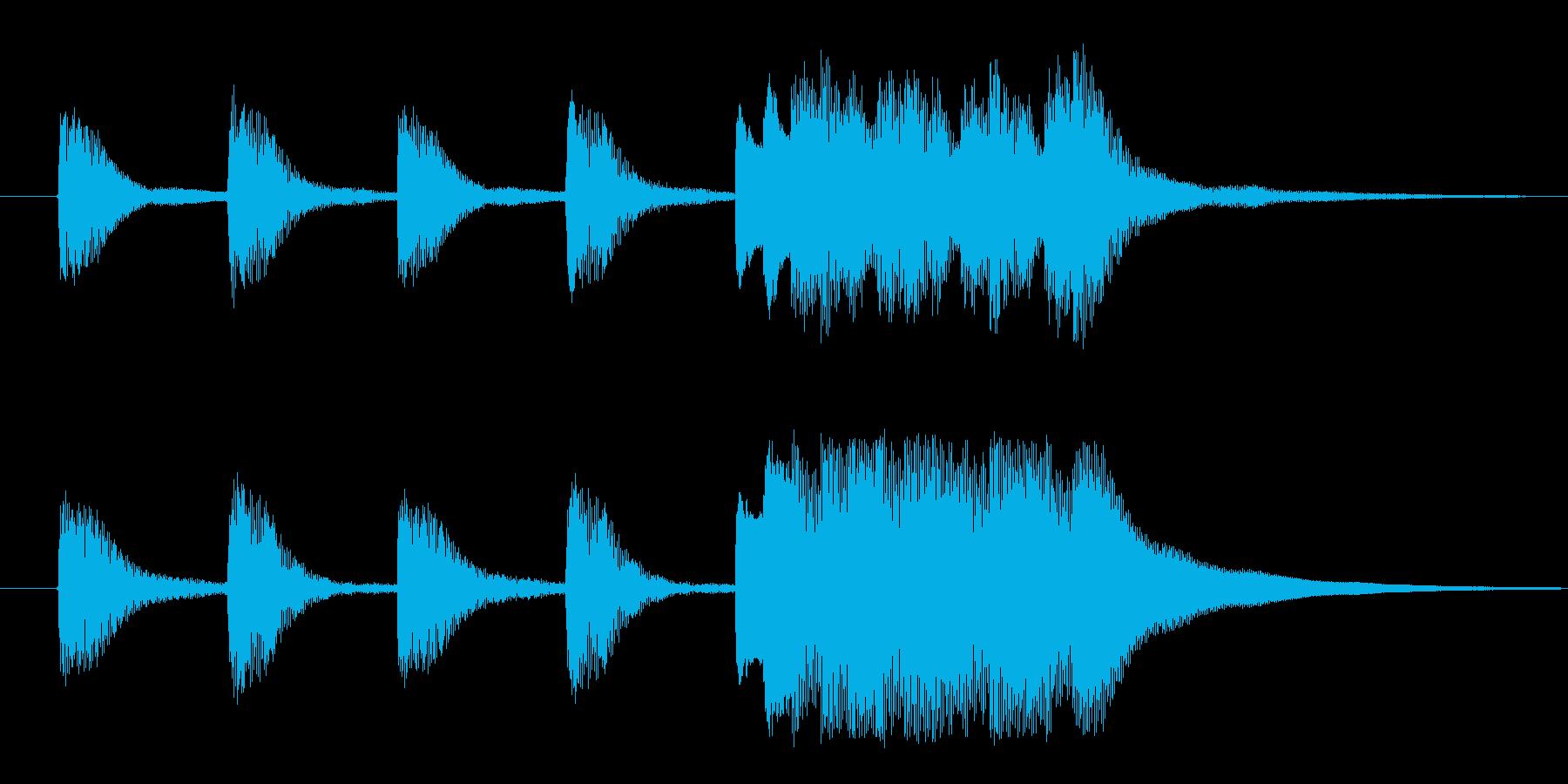 ホールトーンジングルの再生済みの波形