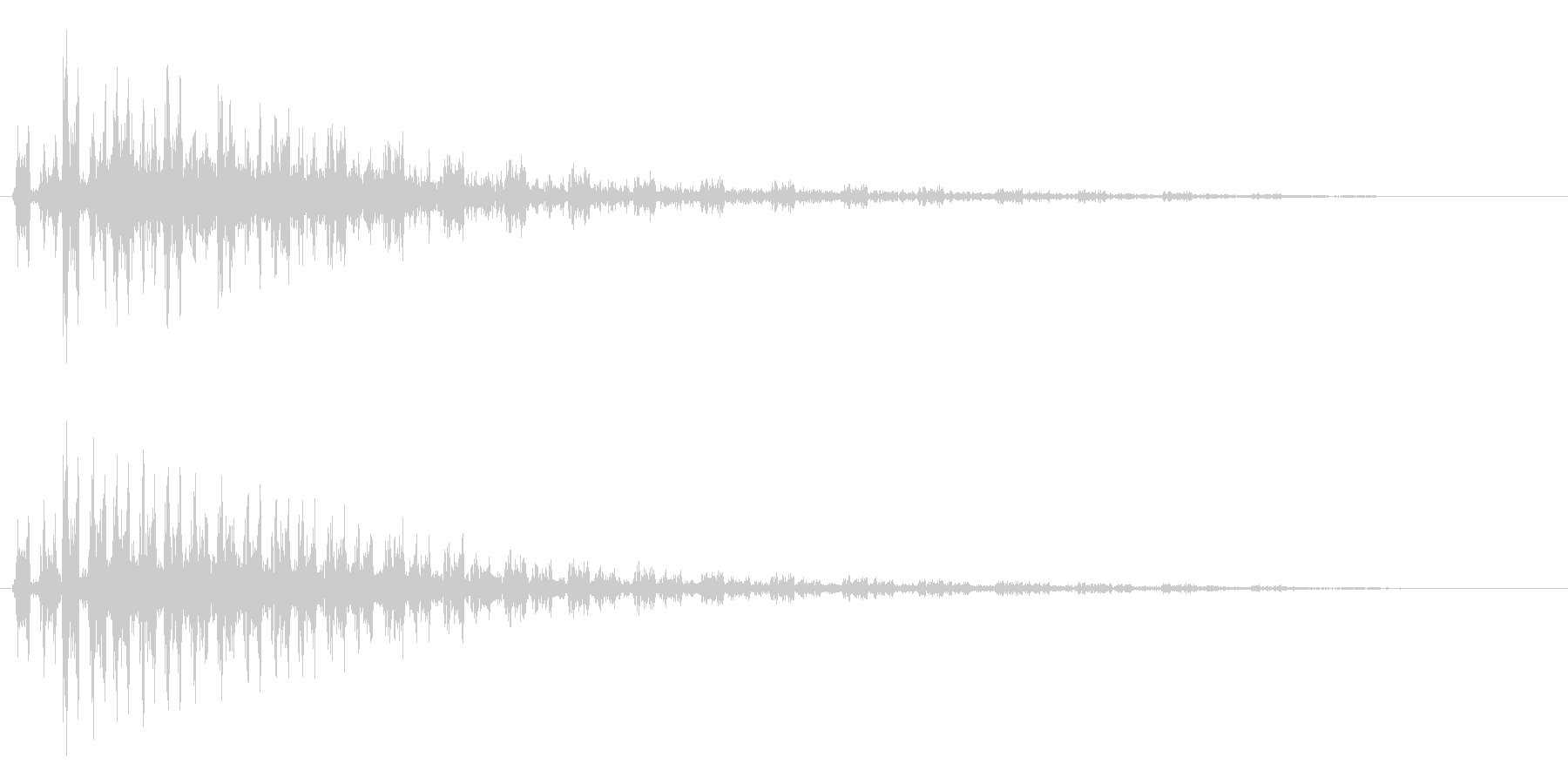 ガルルルル〜ンという効果音の未再生の波形