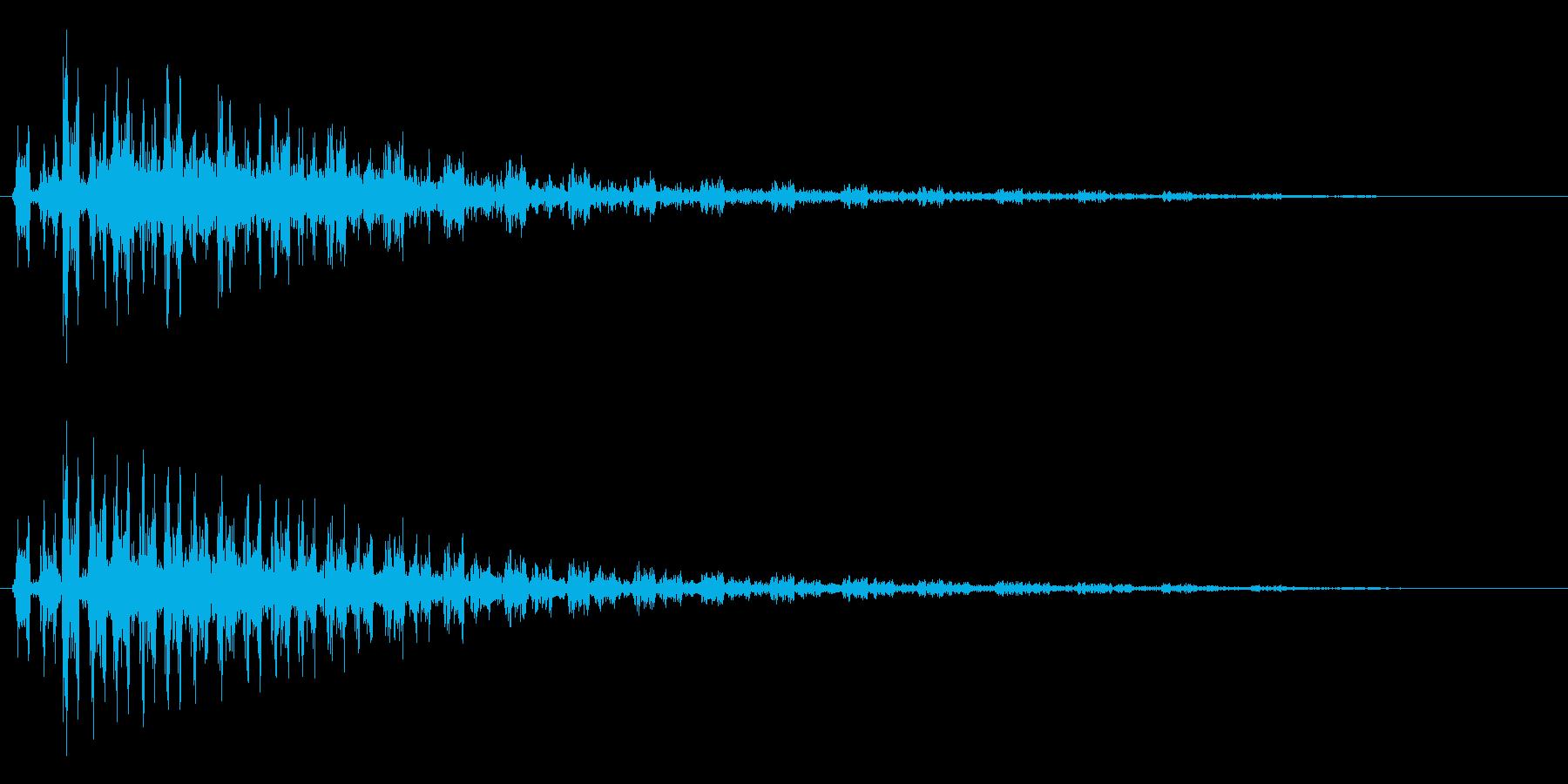 ガルルルル〜ンという効果音の再生済みの波形