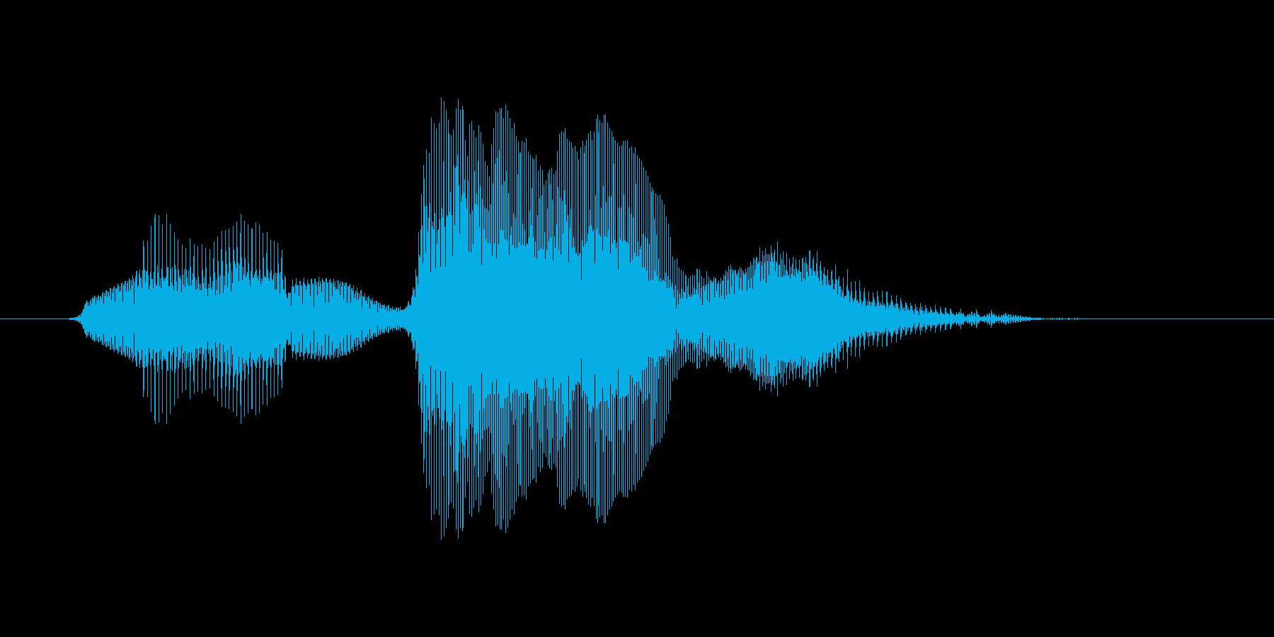 【ボイスSE】なんでやねん!の再生済みの波形