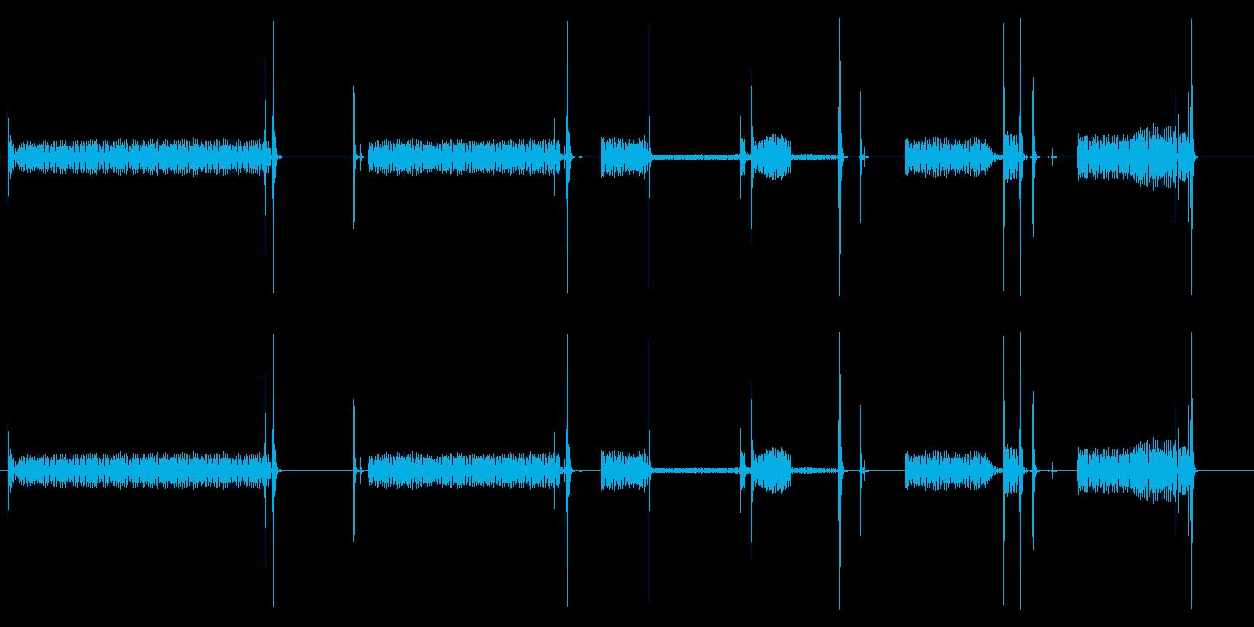 【生録音】ジーー、ブツッ、ジーーの再生済みの波形