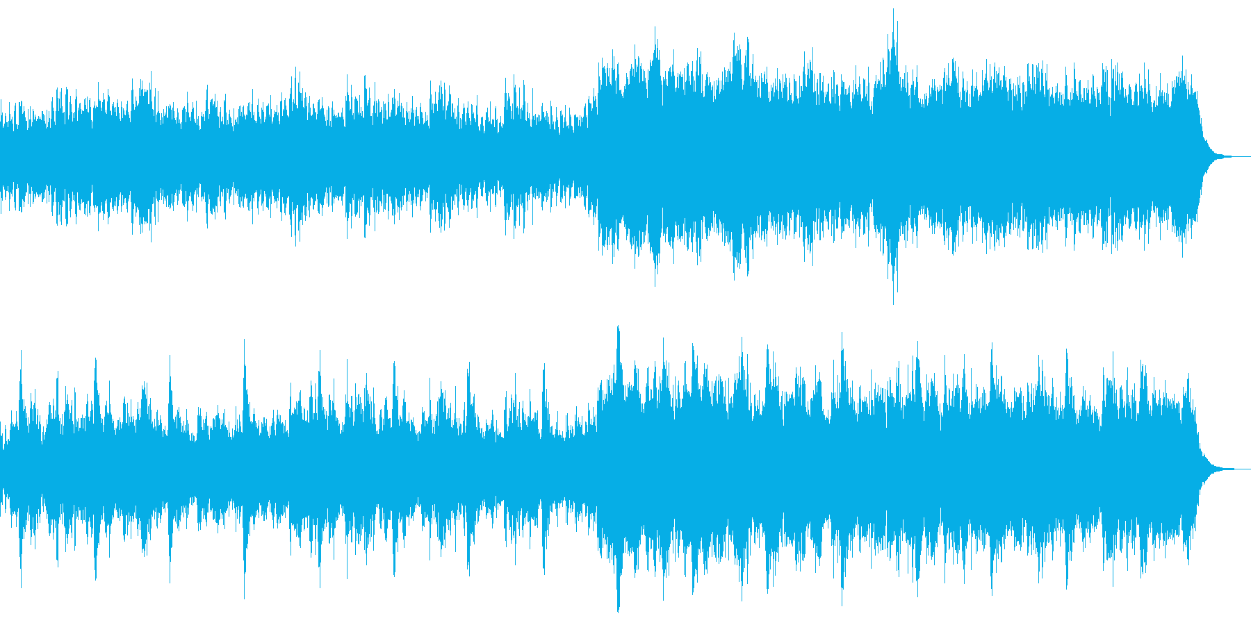 和風の幻想的な楽曲の再生済みの波形