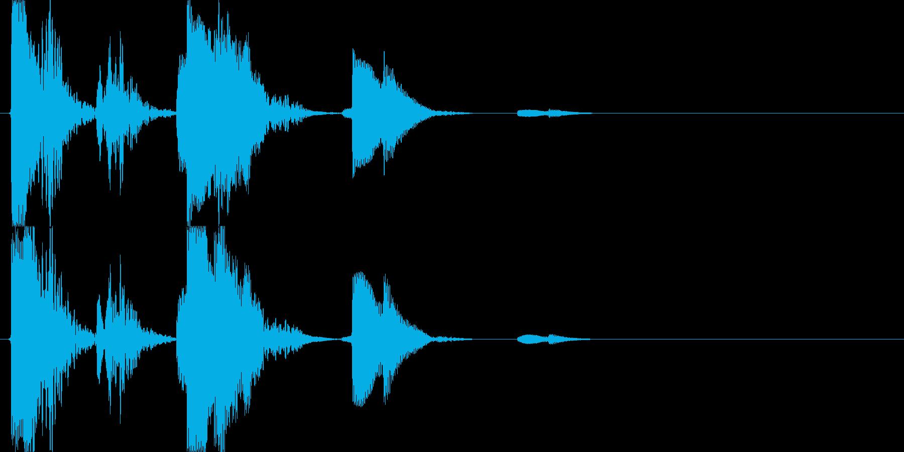 風鈴類の音の再生済みの波形