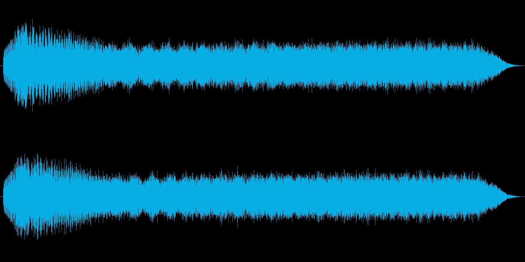出力上昇・エネルギー充填の再生済みの波形