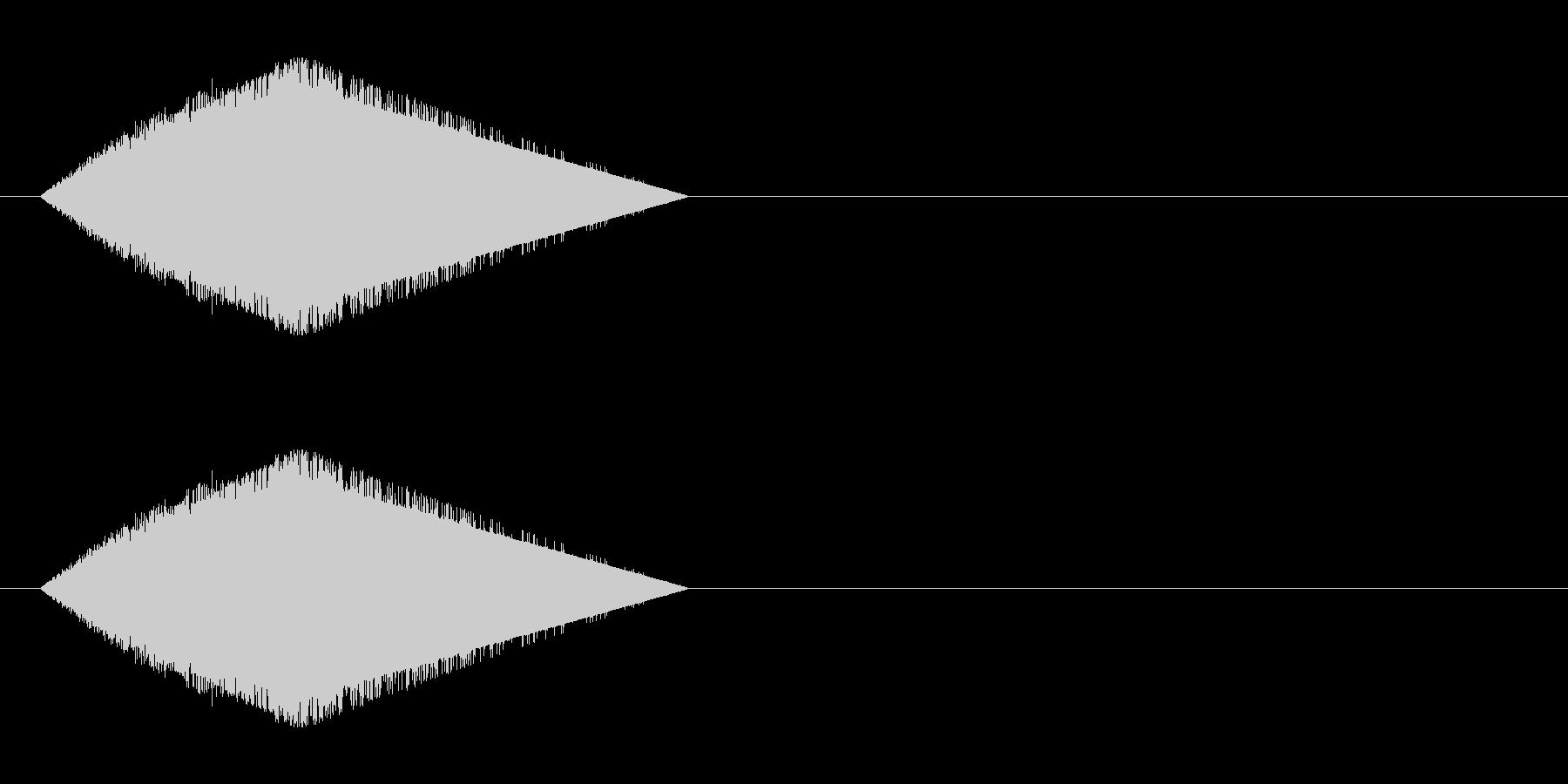 レトロゲーム風・風切り、素振り#4の未再生の波形