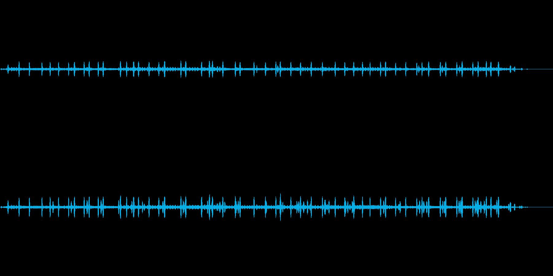 カエルの鳴き声ですの再生済みの波形
