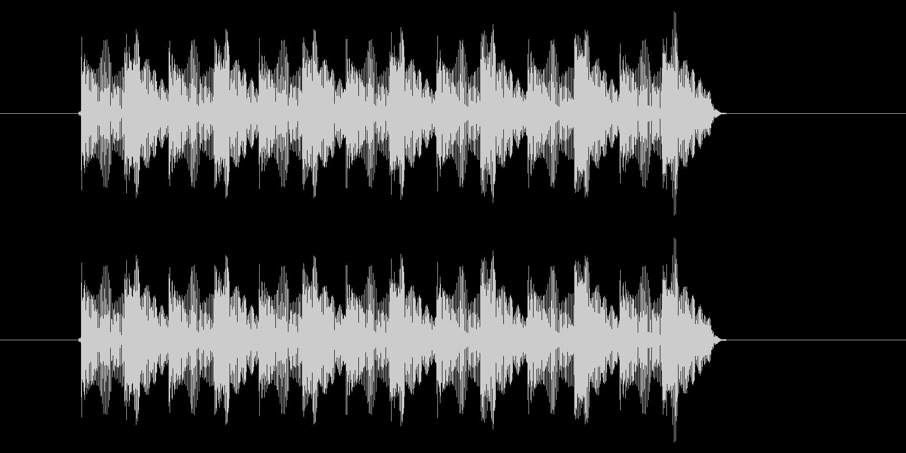 明るくポップな効果音の未再生の波形