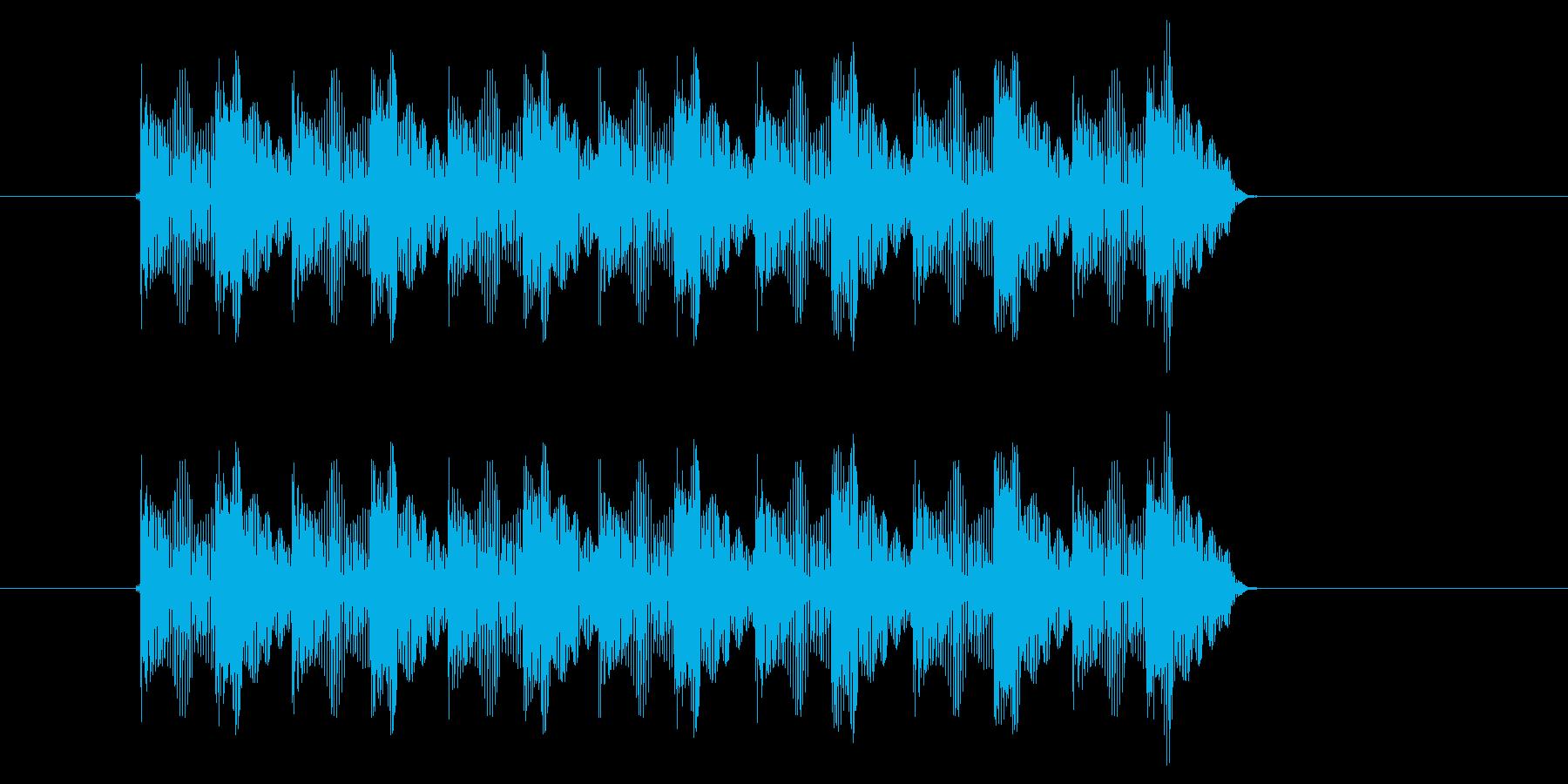 明るくポップな効果音の再生済みの波形