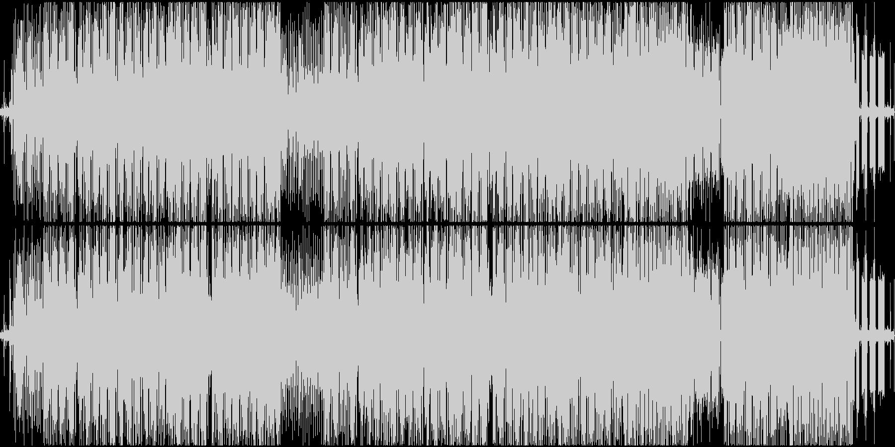 ヒップホップ風のファンキーなR&Bの未再生の波形
