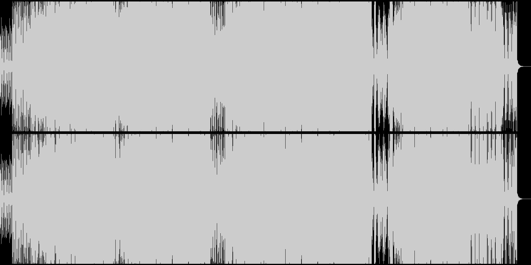 オシャレで近未来的なファンクの未再生の波形