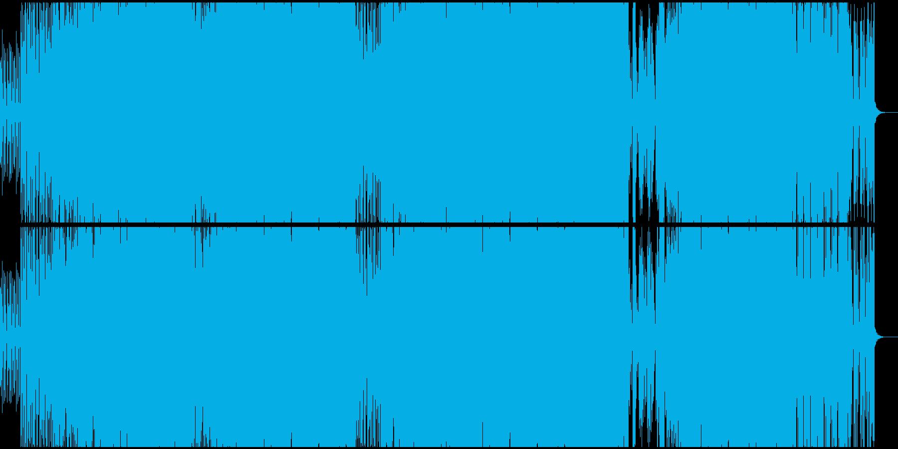 オシャレで近未来的なファンクの再生済みの波形