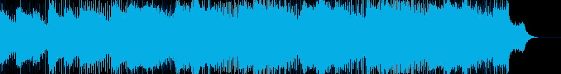 怪しく不思議な雰囲気のアンビエントBGMの再生済みの波形