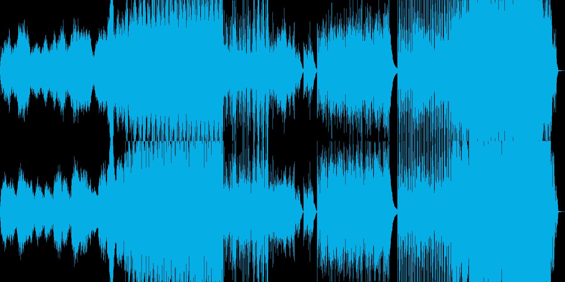 西アジア風の妖しい曲の再生済みの波形