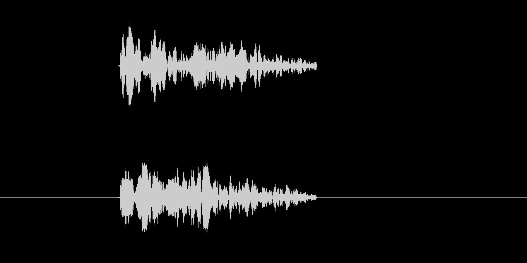 チュイーン(シューティング、ビーム)の未再生の波形