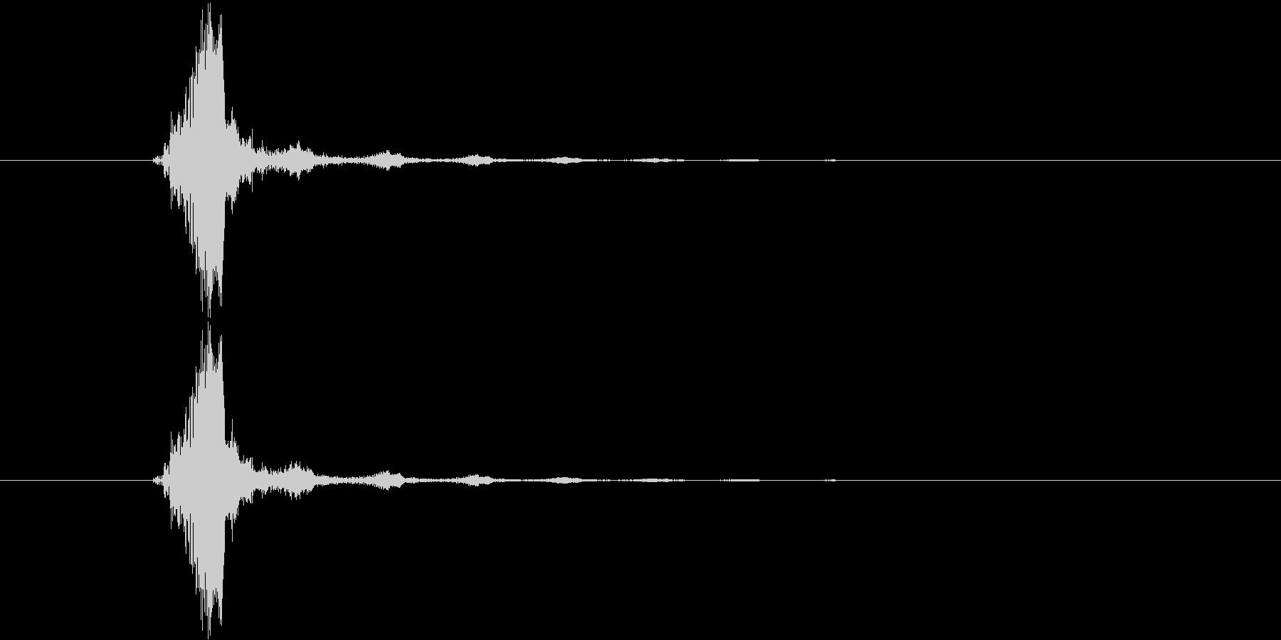 水滴が落ちるイメージのシンセ音の未再生の波形
