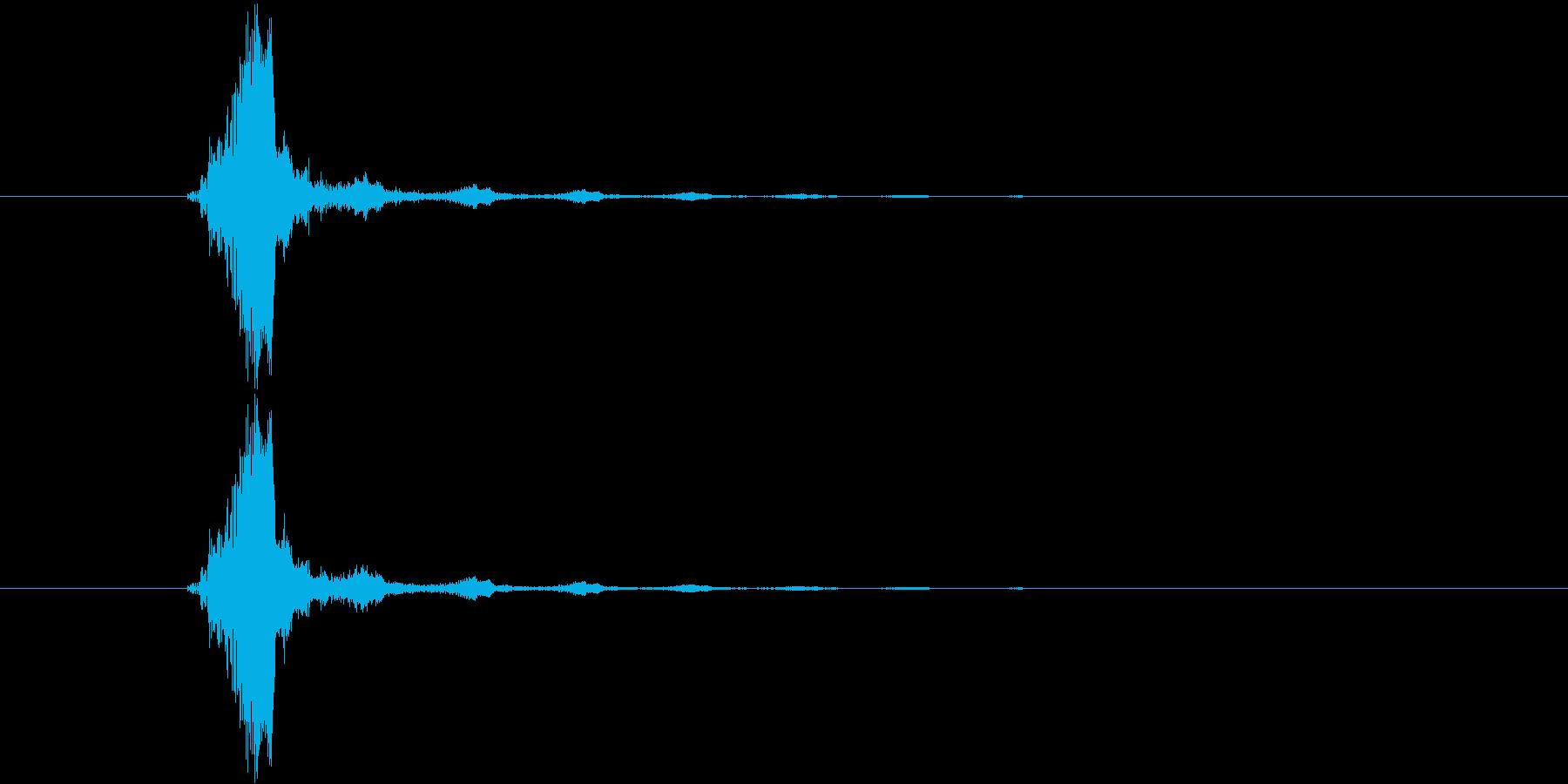 水滴が落ちるイメージのシンセ音の再生済みの波形