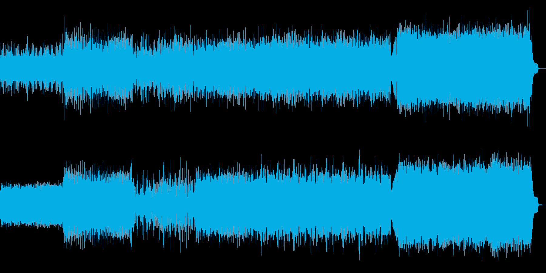 突き抜ける疾走感のあるインストの再生済みの波形