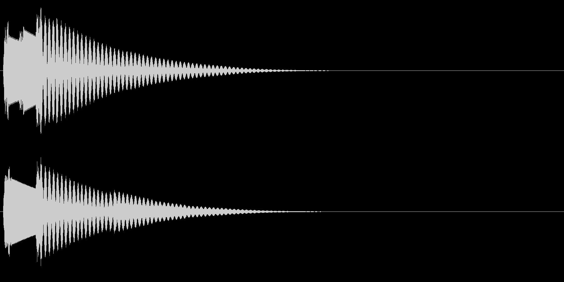 ピンポン(クイズのボタン音)の未再生の波形