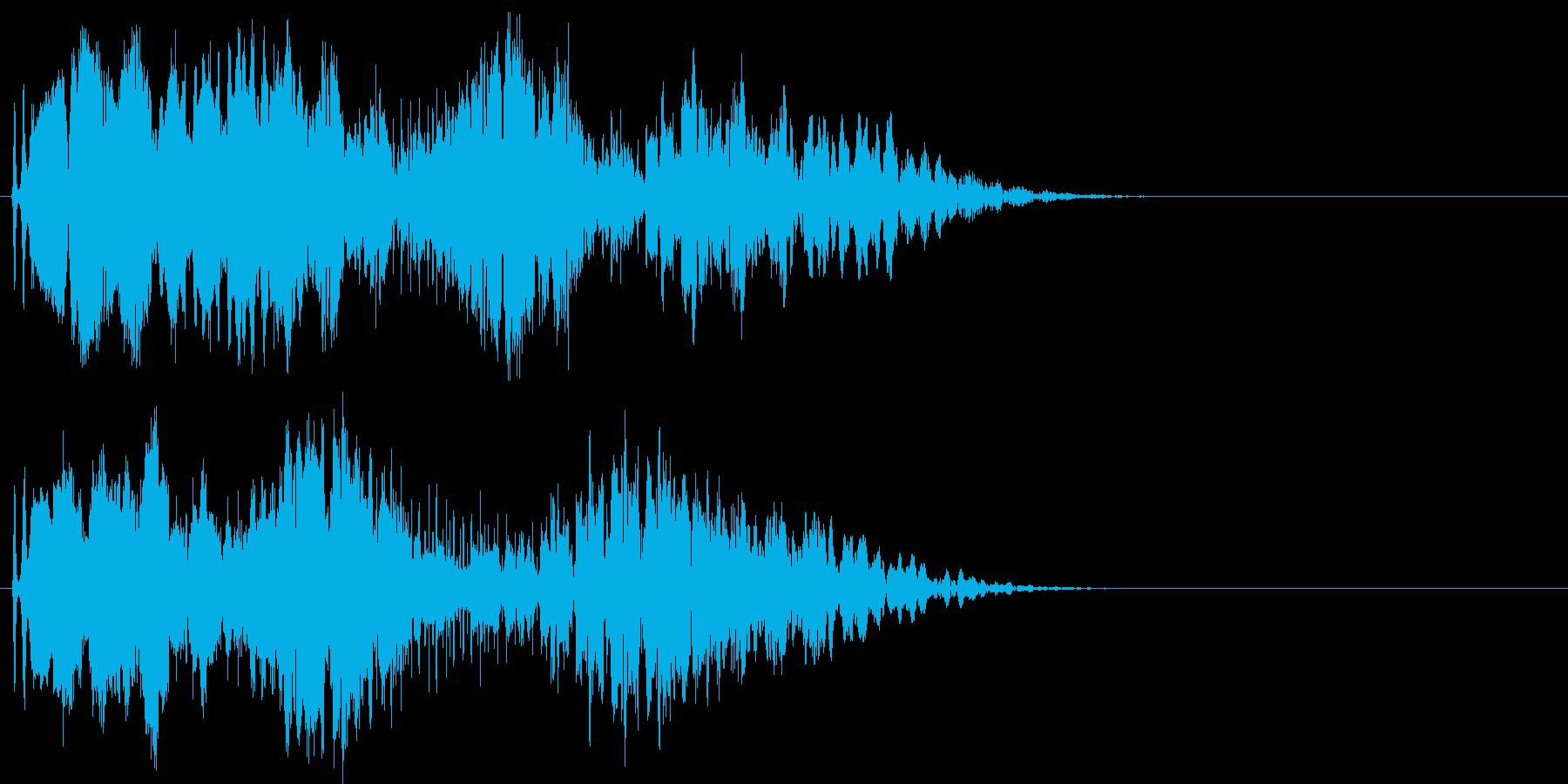 魔法のステッキ音の再生済みの波形