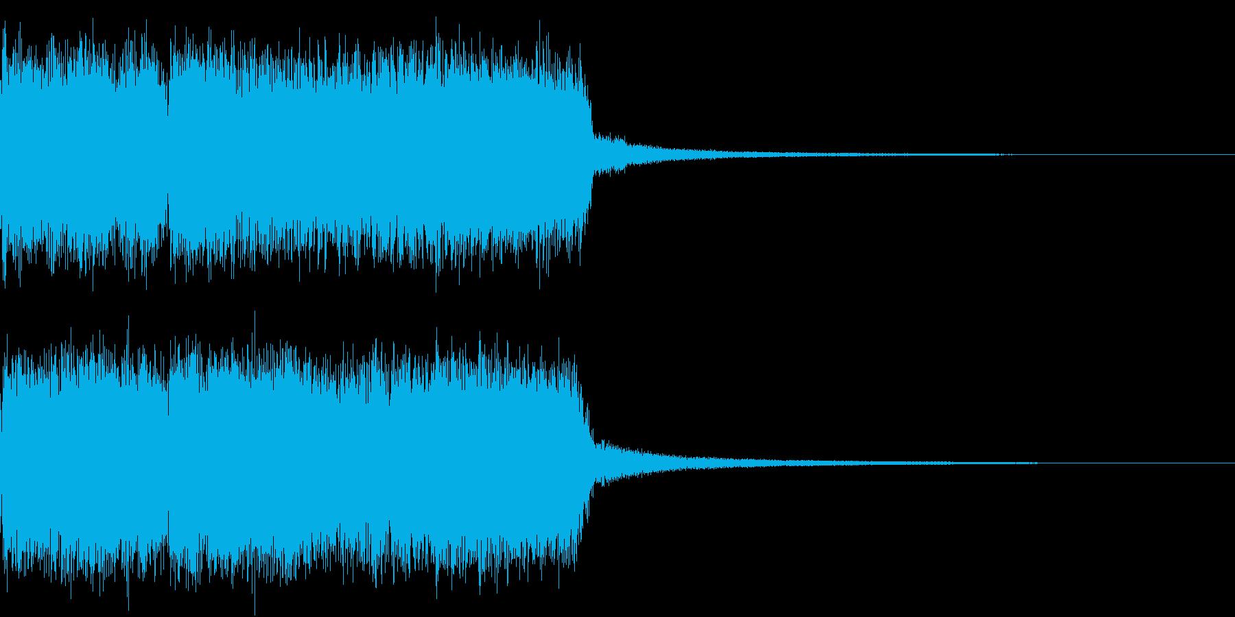 ロック ジングル 切り替わりの再生済みの波形