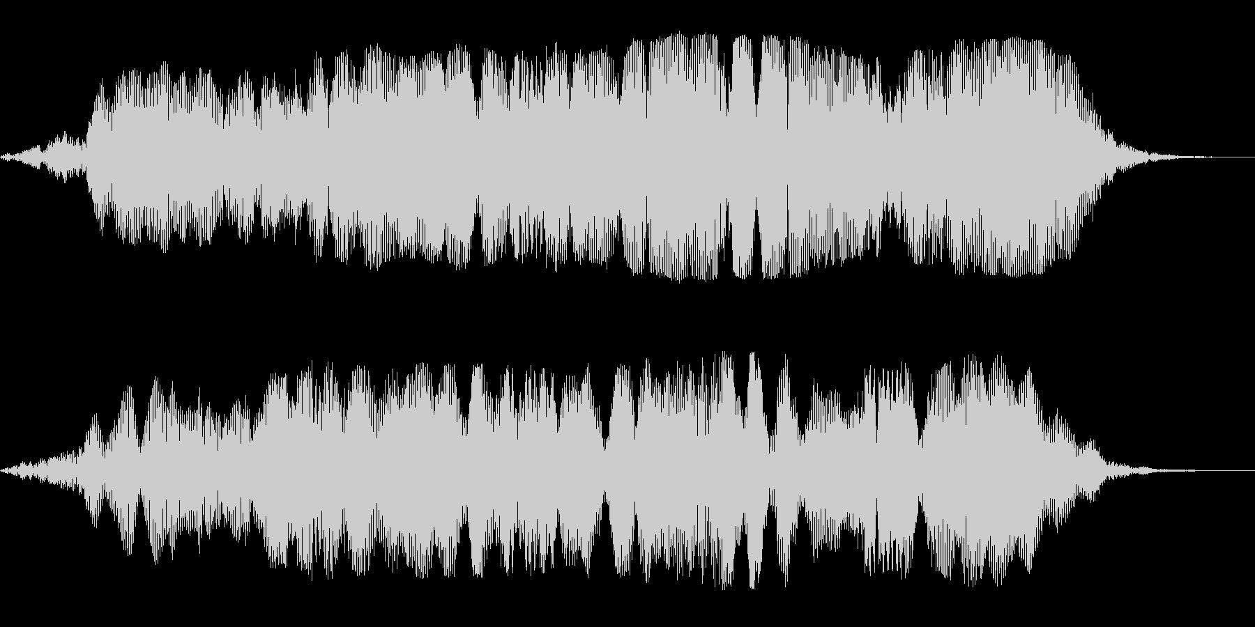 ブワーンという巨大惑星の効果音の未再生の波形