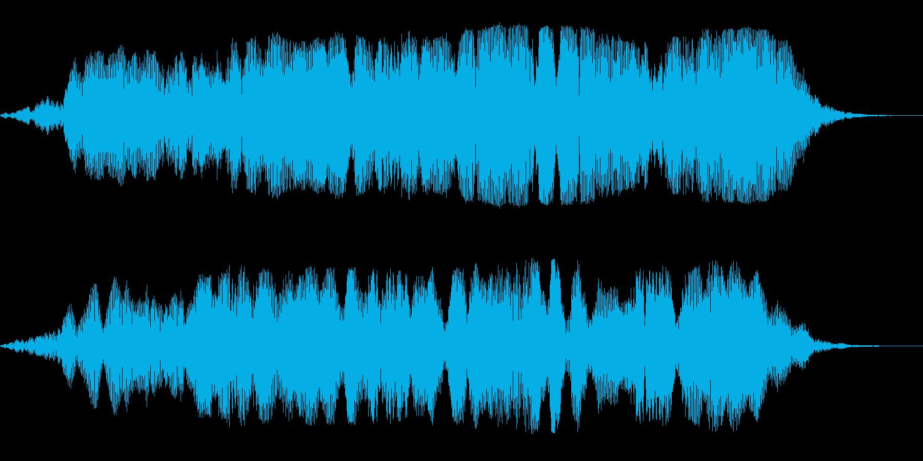 ブワーンという巨大惑星の効果音の再生済みの波形