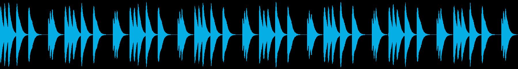マリンバの着信音の再生済みの波形