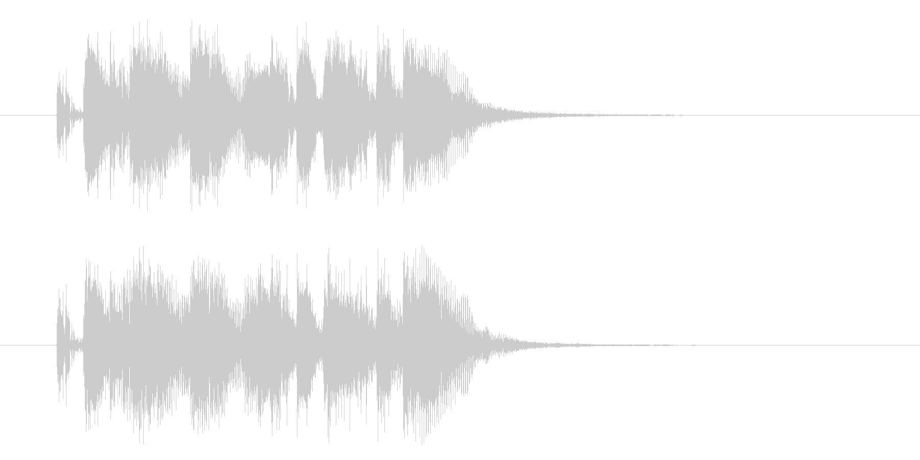 軽快なリズムのジングルの未再生の波形