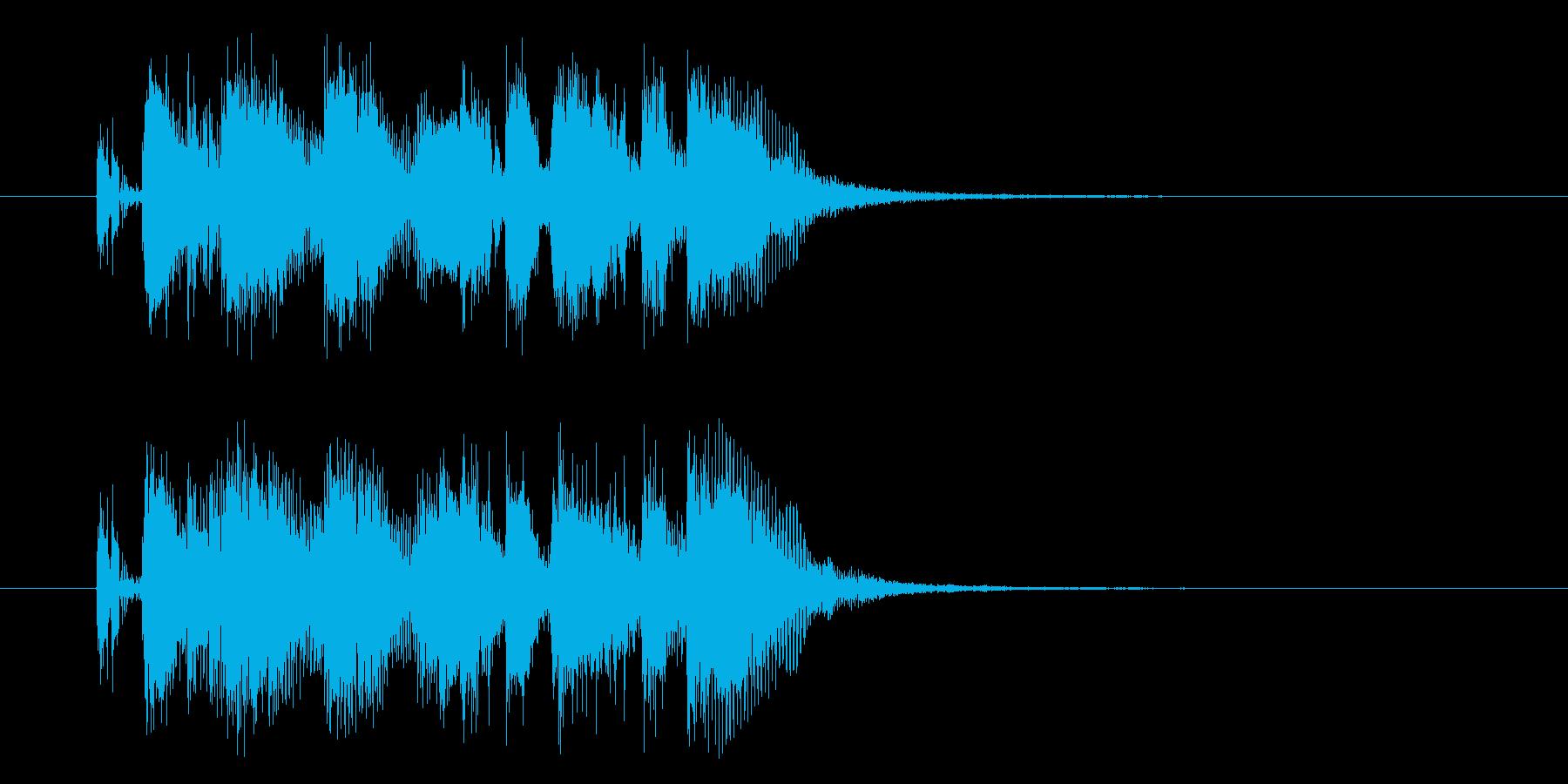 軽快なリズムのジングルの再生済みの波形