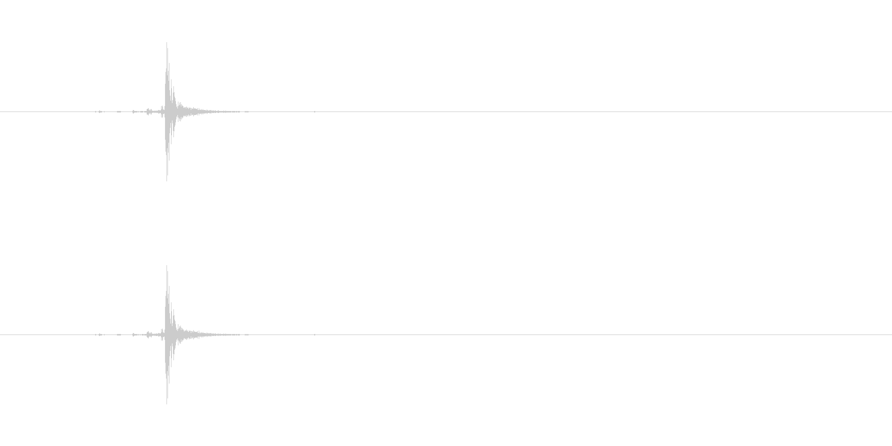 【本01-6(閉じる)】の未再生の波形