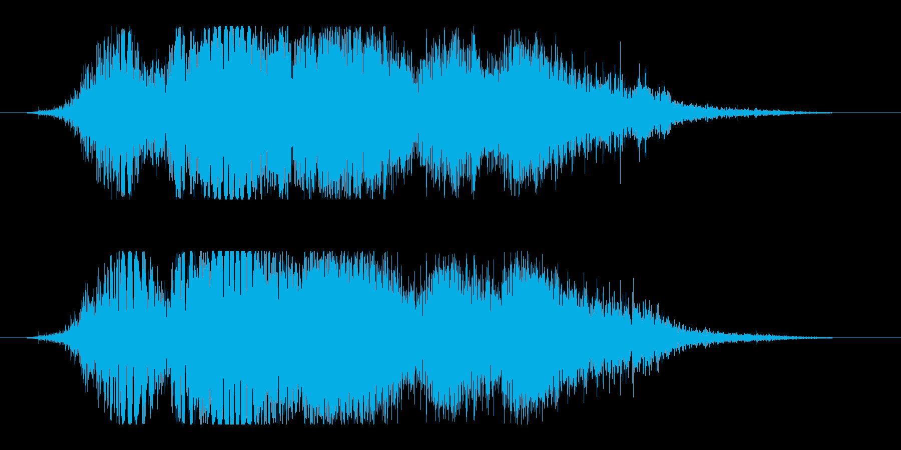 斬撃音(刀や剣で斬る/刺す効果音)11の再生済みの波形