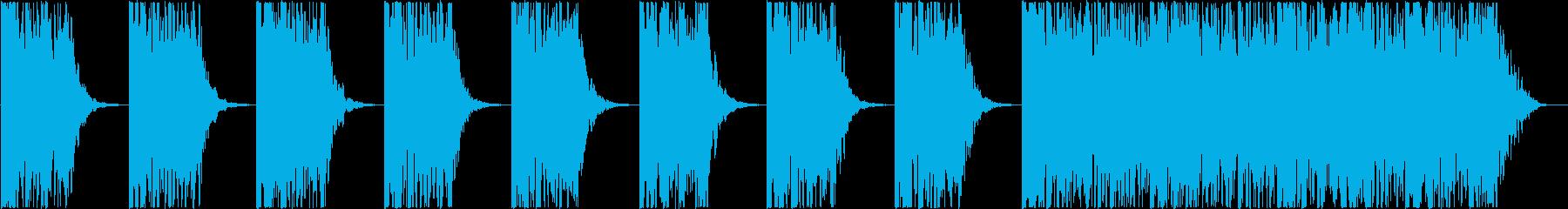打楽器 BPM=100の再生済みの波形