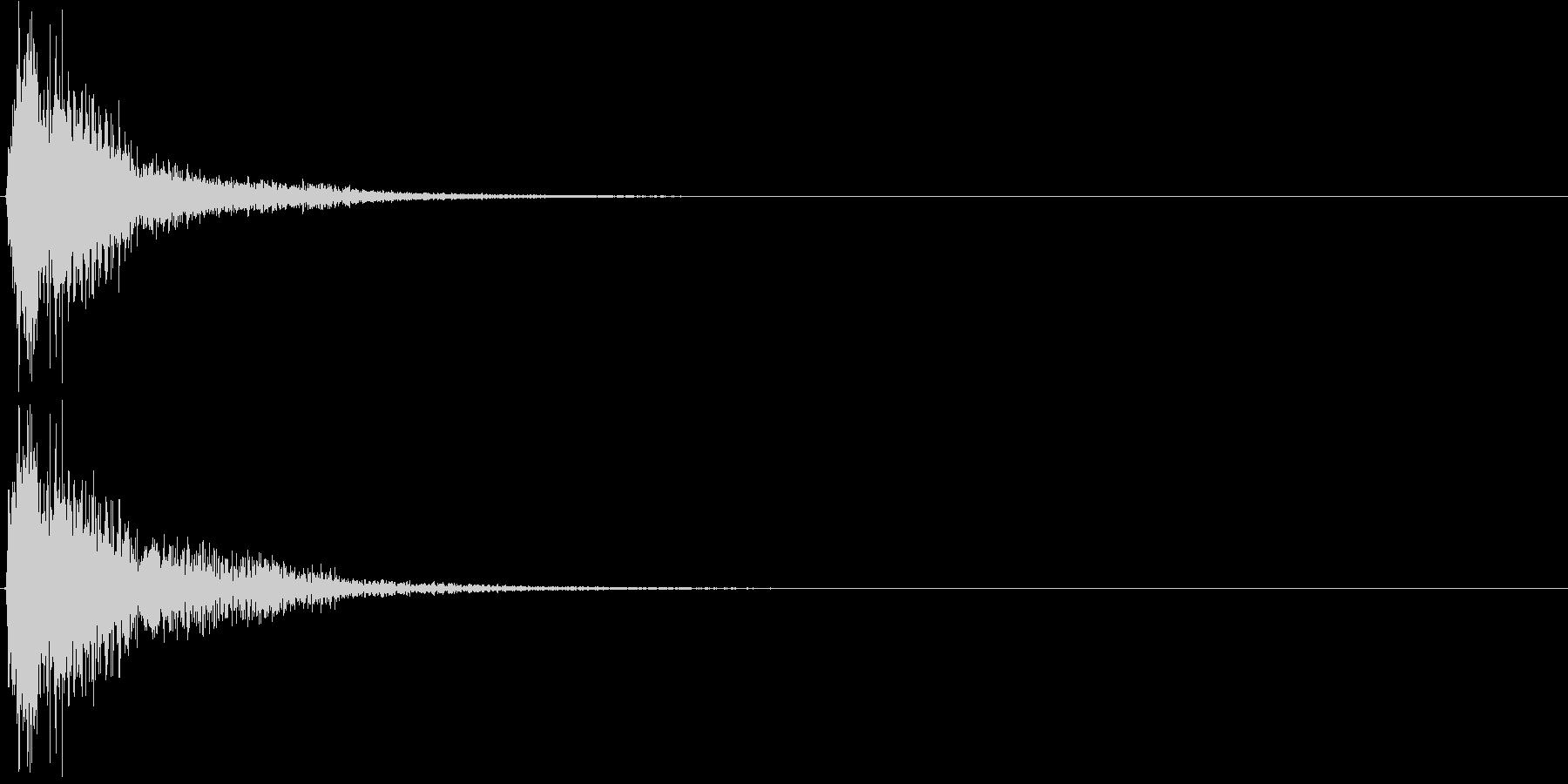 ジャン。クイズ出題・発表(低め)の未再生の波形
