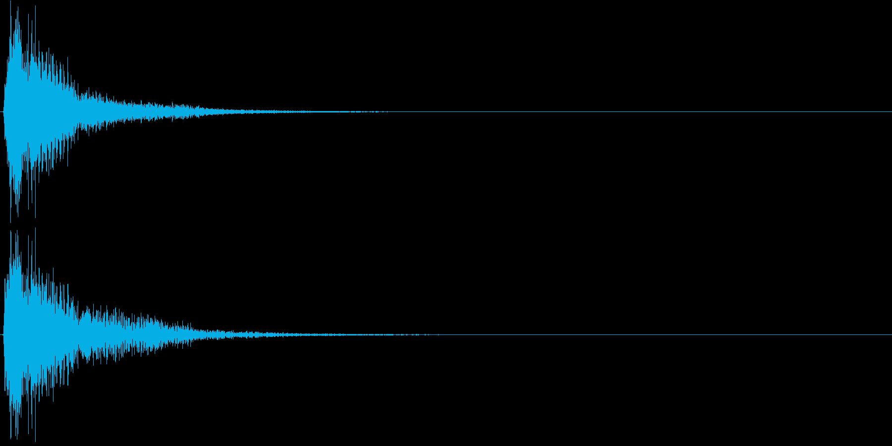 ジャン。クイズ出題・発表(低め)の再生済みの波形
