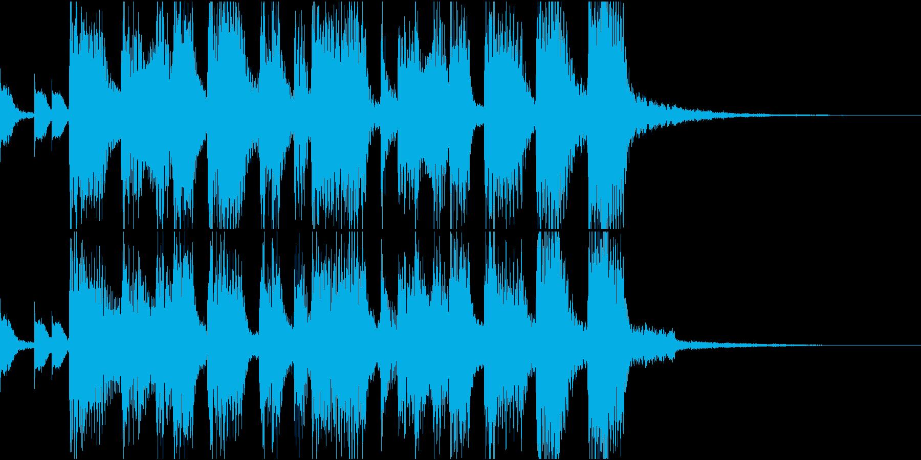 どこか懐かしい入場・場面展開のBGMの再生済みの波形