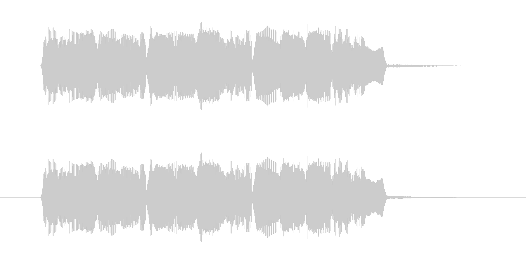 明るいオルガン音(ジングル、転換)の未再生の波形