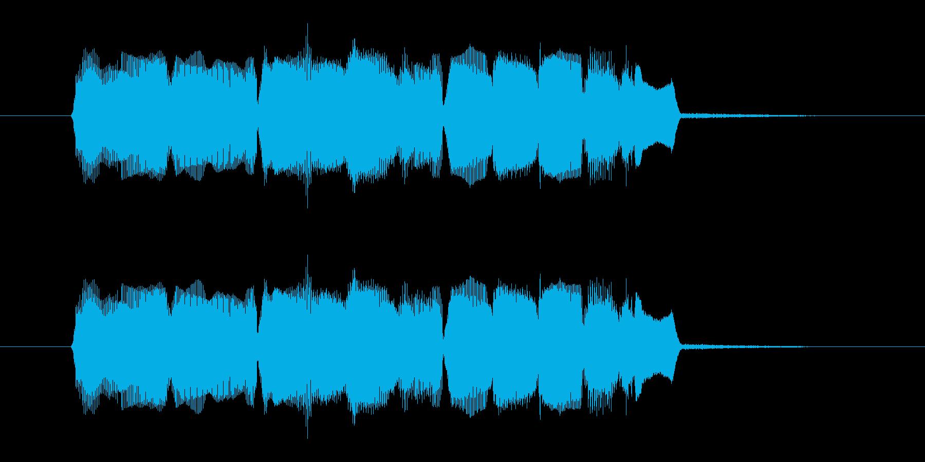明るいオルガン音(ジングル、転換)の再生済みの波形
